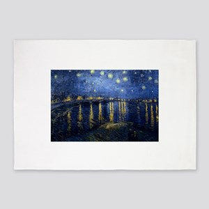 Starry Night Over Rhone 5'x7'Area Rug